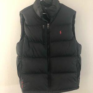 POLO RALPH LAUREN Men's Zip Down Vest BLACK XL